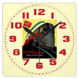 Vintage Hiawatha Streamlined Train Clocks