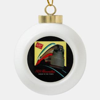 Vintage Hiawatha Streamlined Train Ceramic Ball Christmas Ornament