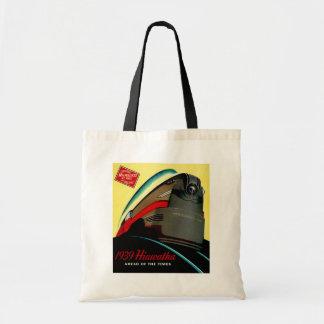 Vintage Hiawatha Streamlined Train Budget Tote Bag