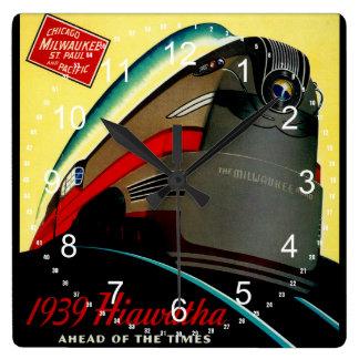 Vintage Hiawatha Streamlined Train Wall Clocks