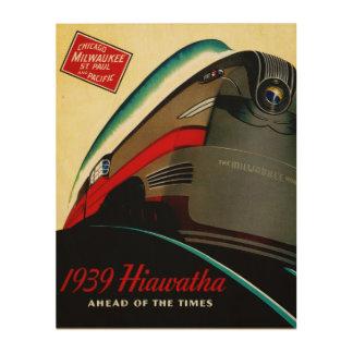 Vintage Hiawatha Streamlined Train Wood Prints