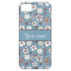 Vintage Hibiscus Flowers Pattern iPhone 5 Case