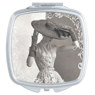 Vintage High Fashion Compact Mirror