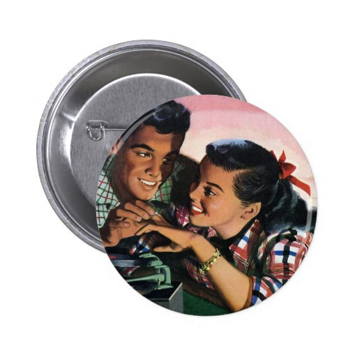 Vintage High School Sweet Hearts, Promise Ring Button