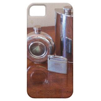 Vintage Hip Flasks And Lighter iPhone 5/5S Cases