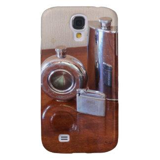 Vintage Hip Flasks And Lighter HTC Vivid Cases