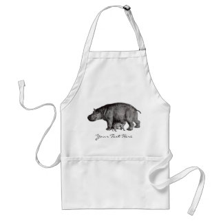 Vintage Hippo Apron