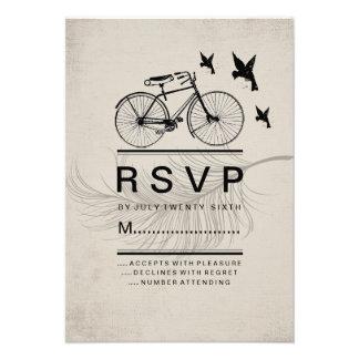 VINTAGE HIPSTER BICYCLE RSVP CARDS
