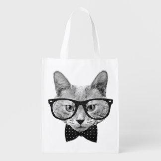 Vintage hipster cat