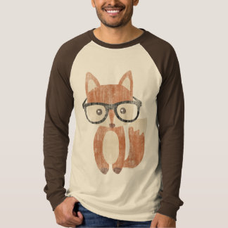 Vintage Hipster Glasses Cute Baby Fox Shirt