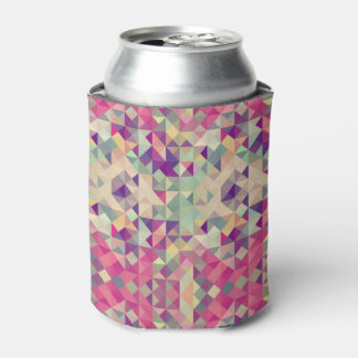 Vintage Hipsters Geometric Pattern. Can Cooler