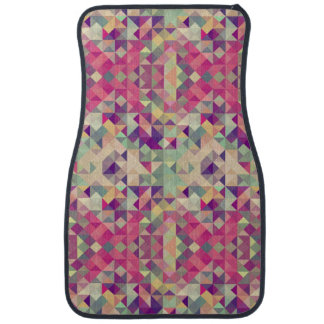 Vintage Hipsters Geometric Pattern. Car Mat