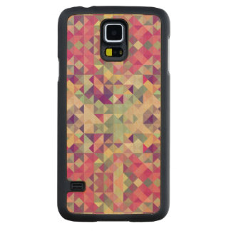 Vintage Hipsters Geometric Pattern. Carved Maple Galaxy S5 Case