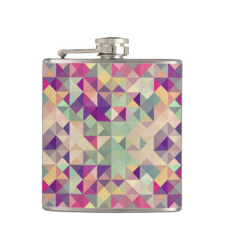 Vintage Hipsters Geometric Pattern. Hip Flask