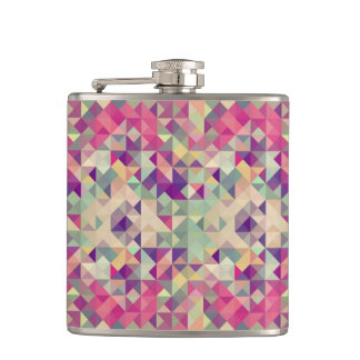 Vintage Hipsters Geometric Pattern. Hip Flask