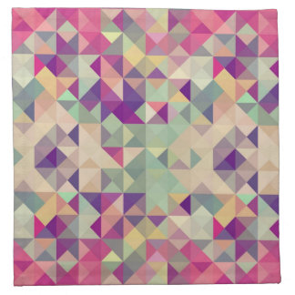 Vintage Hipsters Geometric Pattern. Napkin