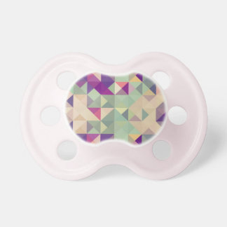 Vintage Hipsters Geometric Pattern. Pacifier