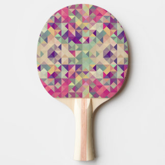 Vintage Hipsters Geometric Pattern. Ping Pong Paddle