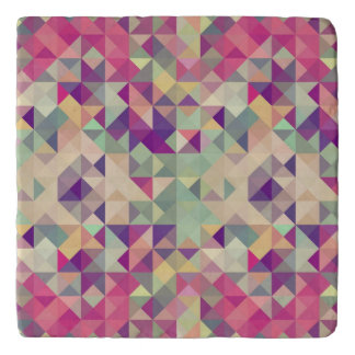 Vintage Hipsters Geometric Pattern. Trivet