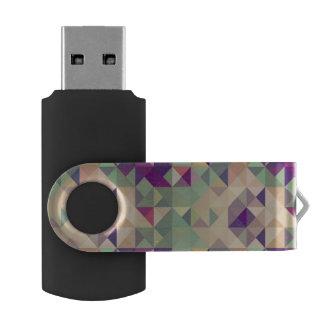 Vintage Hipsters Geometric Pattern. USB Flash Drive