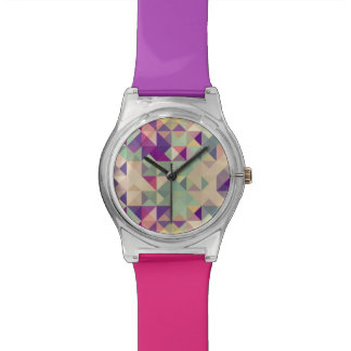 Vintage Hipsters Geometric Pattern. Watch