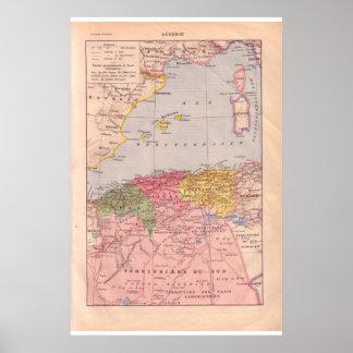 VIntage historic 1920 Algeria Print