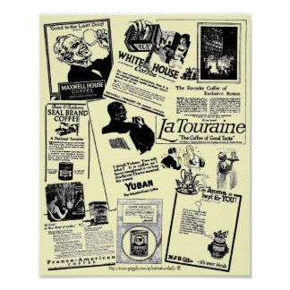 Vintage Historic coffee ad medley-1922 Poster