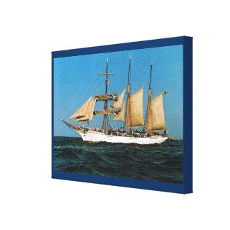"Vintage historic ships,  ""Mercator"", Belgium Canvas Print"