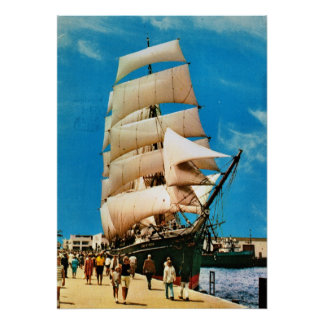 Vintage historic ships,   Star of India San Diego Poster