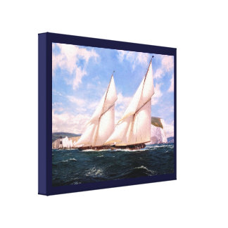 Vintage Historic Yacht racing odd Needles Point Canvas Print