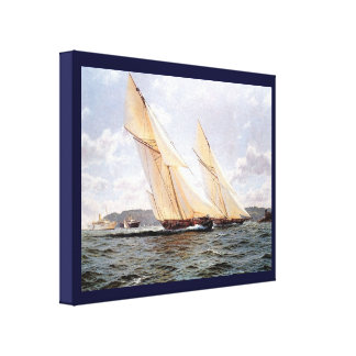 Vintage HistoricYacht racing off Cowes Canvas Print