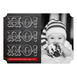 Vintage HO HO HO Holiday Photo Christmas Greetings Custom Invitation