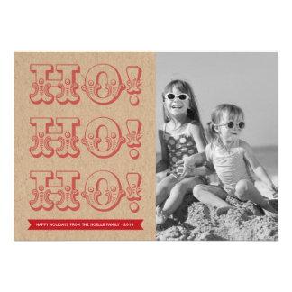 Vintage HO HO HO Holiday Photo Christmas Greetings Invites