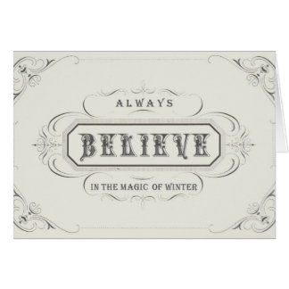 Vintage Holiday...Believe notecard