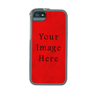 Vintage Holiday Christmas Red Parchment Paper iPhone 5 Cover