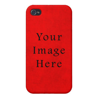 Vintage Holiday Christmas Red Parchment Paper iPhone 4 Case
