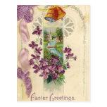 Vintage Holiday Easter Greeting Postcard