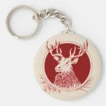 Vintage Holiday Elk Print