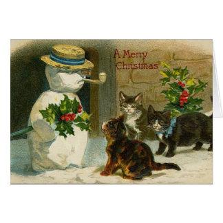 Vintage Holiday Greetings Greeting Card