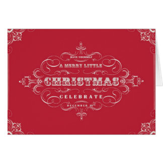 Vintage Holiday...Merry little Christmas notecard