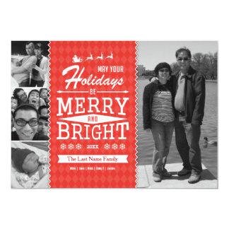 Vintage Holiday Photo Card (Double-sided) 13 Cm X 18 Cm Invitation Card
