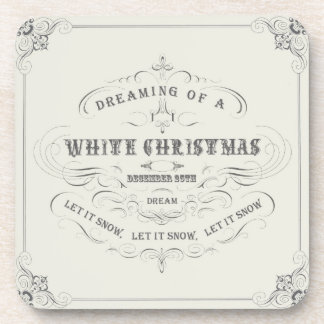 Vintage Holiday...White Christmas coasters