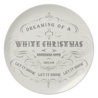 Vintage Holiday...White Christmas plate