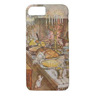 Vintage Holidays, Christmas Eve by Carl Larsson iPhone 7 Case