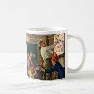 Vintage Holidays, New Year's Eve Family Time Clock Basic White Mug