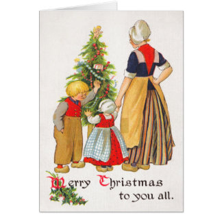 Vintage Holland Christmas Card