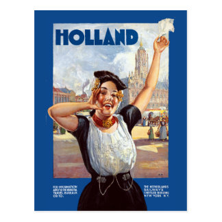 Vintage Holland Netherlands Railway Travel Postcard