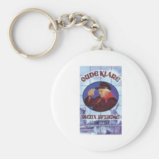 Vintage Holland Wine Liquor Product Label Basic Round Button Key Ring