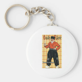 Vintage Holland Wine Liquor Product Label Keychain