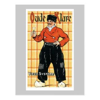 Vintage Holland Wine Liquor Product Label Postcard